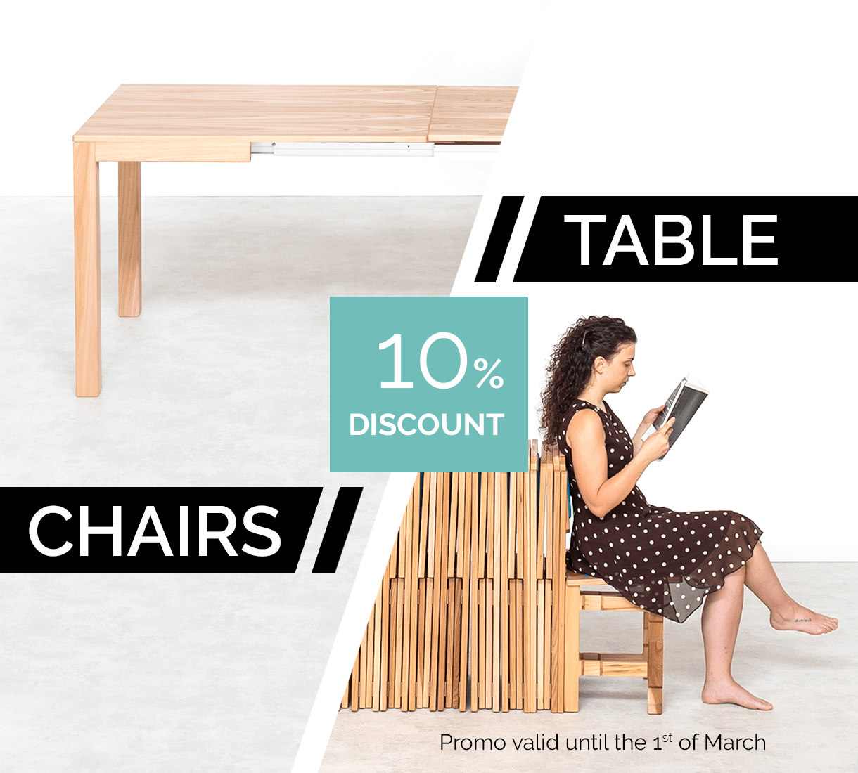 Extendable tables 100% Made in Italy