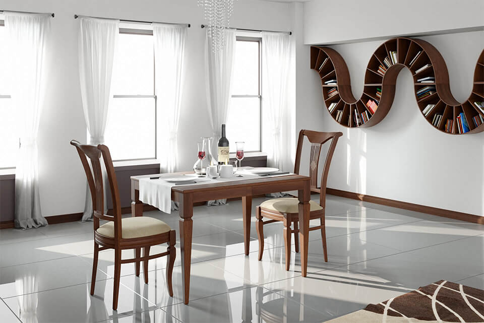Extending dining classic table