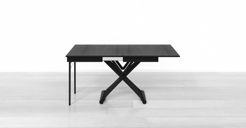 extendable dining table with 1 extension