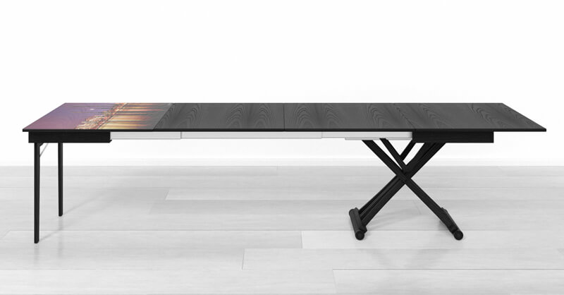 extendable dining table open